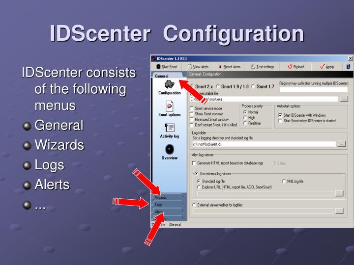 IDScenter  Configuration