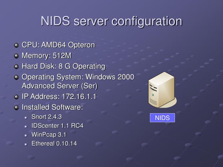 NIDS server configuration
