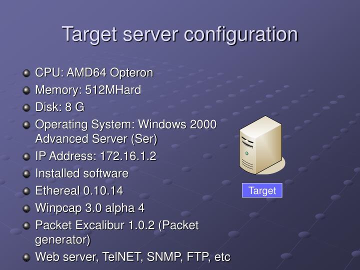 Target server configuration