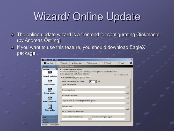 Wizard/ Online Update