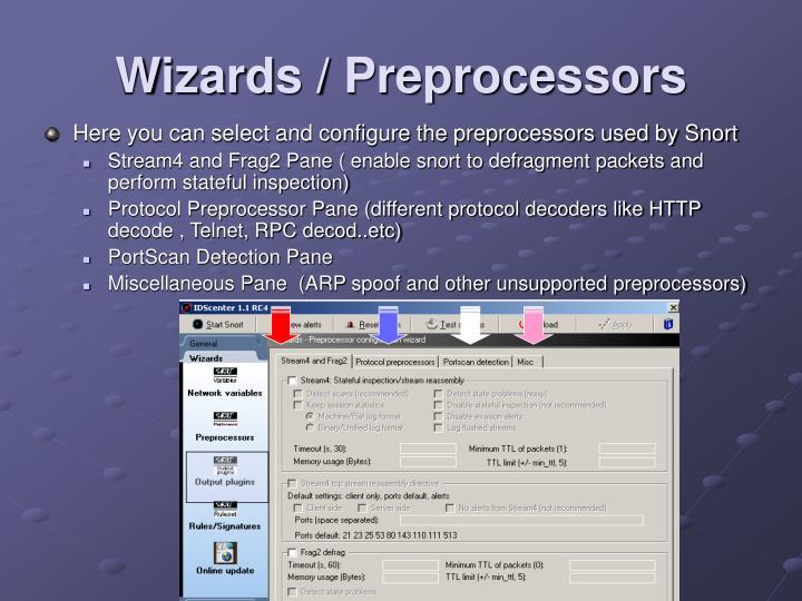 Wizards / Preprocessors