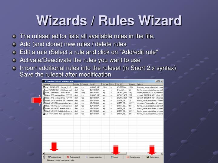 Wizards / Rules Wizard