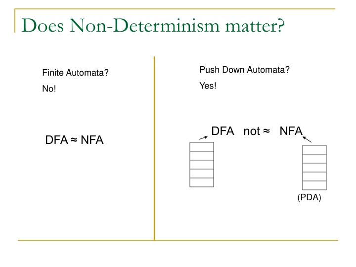 Does Non-Determinism matter?