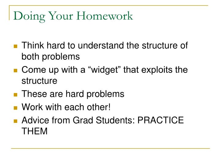 Doing Your Homework