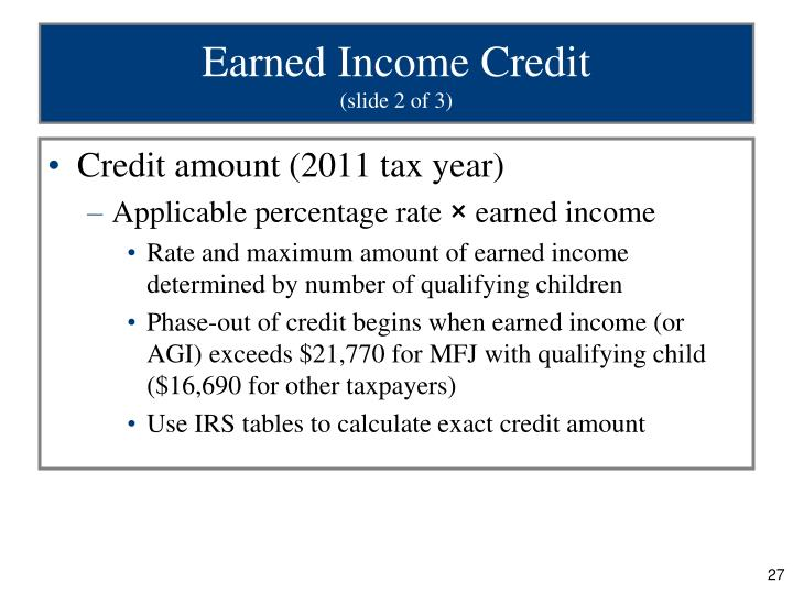 Earned Income Credit