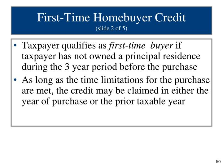 First-Time Homebuyer Credit