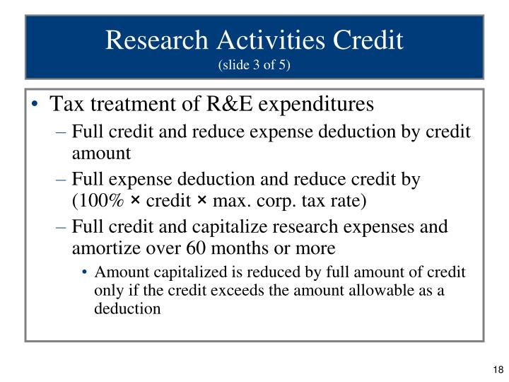 Research Activities Credit