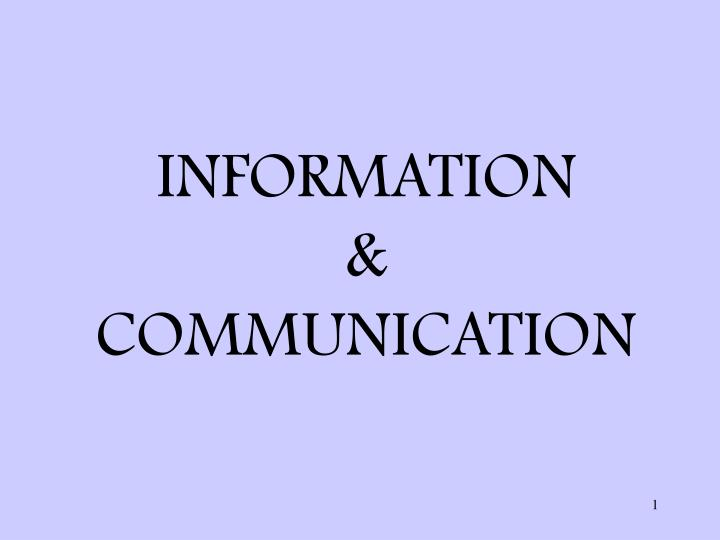 information communication n.