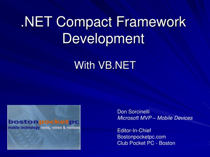 Net compact framework development