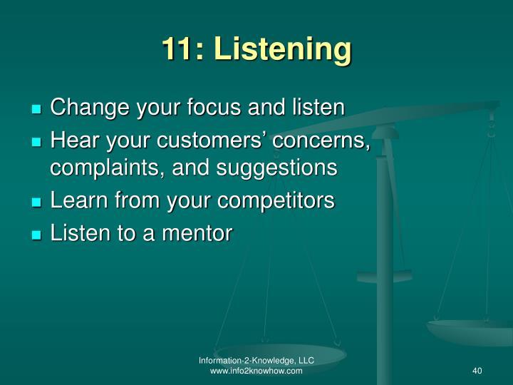 11: Listening