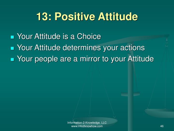 13: Positive Attitude