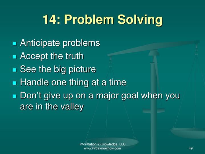 14: Problem Solving