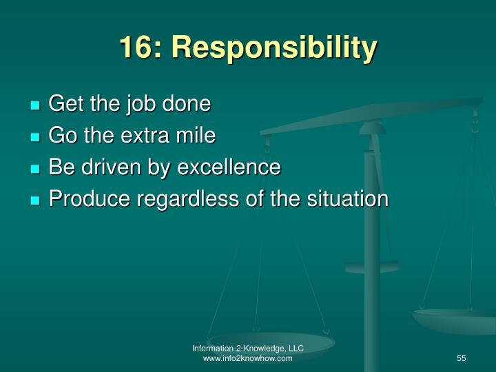 16: Responsibility