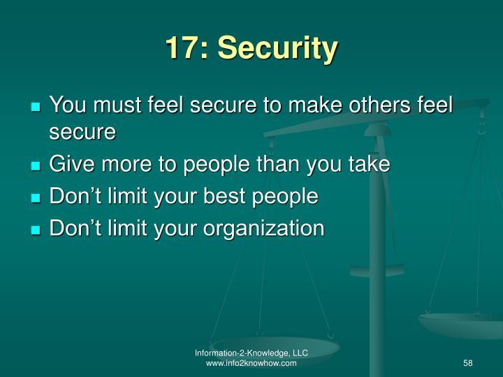 17: Security
