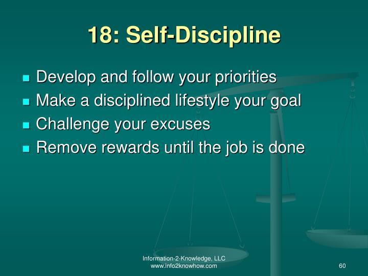 18: Self-Discipline