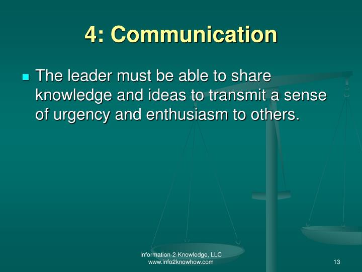 4: Communication