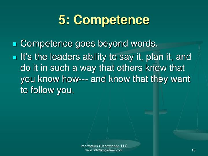 5: Competence