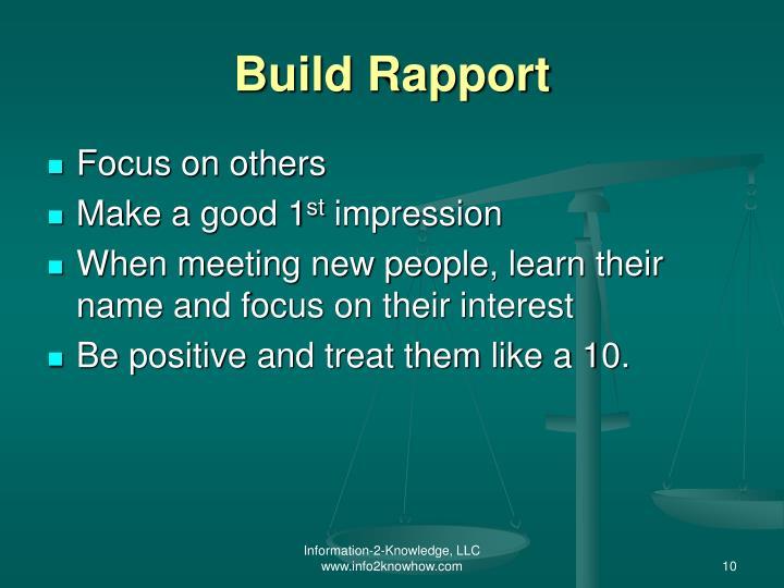 Build Rapport