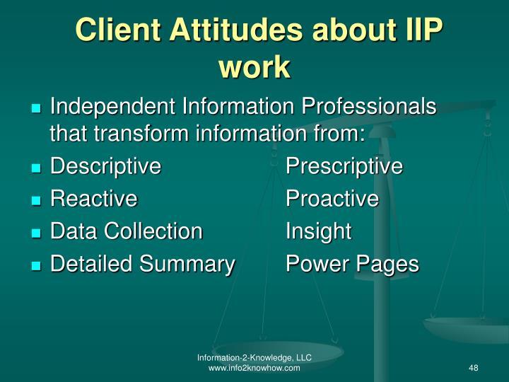 Client Attitudes about IIP work