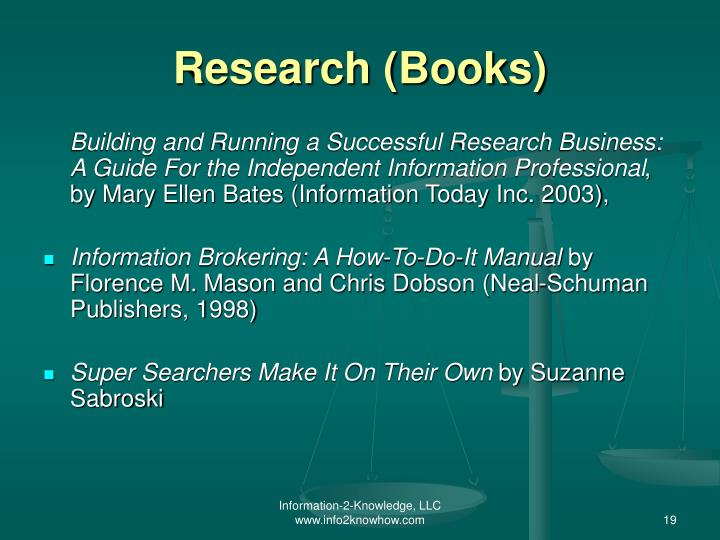 Research (Books)