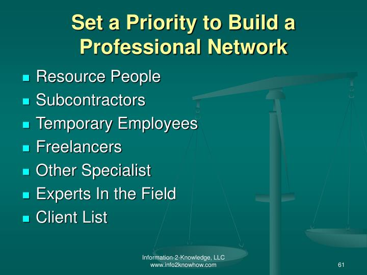 Set a Priority to Build a Professional Network