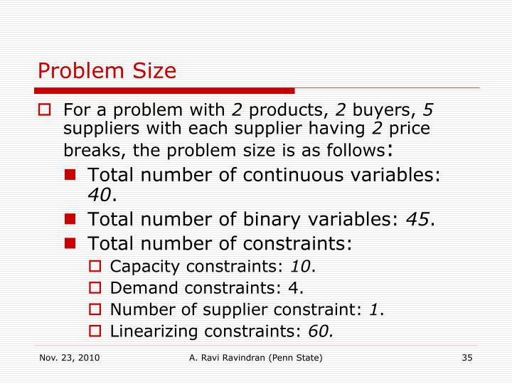 Problem Size