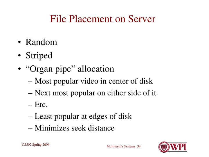File Placement on Server