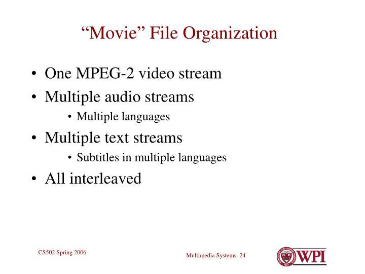 """Movie"" File Organization"