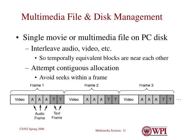 Multimedia File & Disk Management
