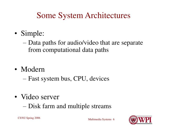 Some System Architectures