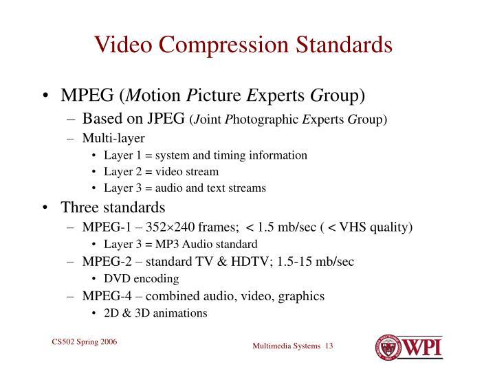 Video Compression Standards