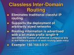 classless inter domain routing