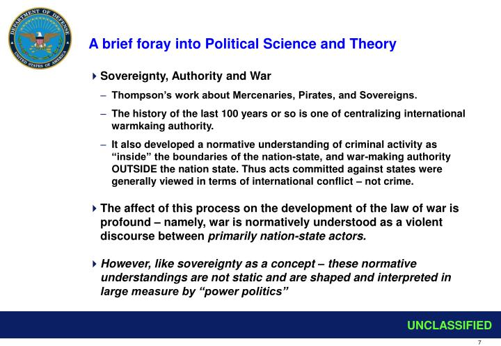A brief foray into Political Science and Theory