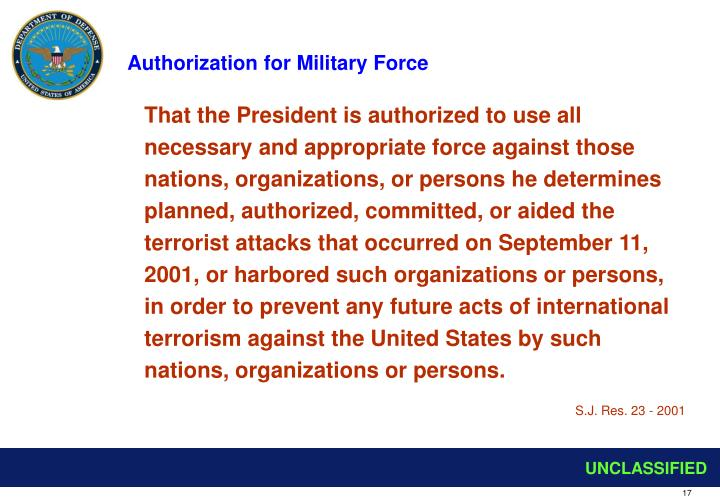 Authorization for Military Force
