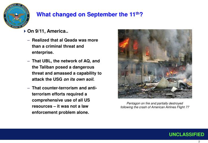 What changed on september the 11 th