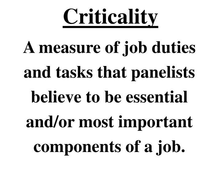Criticality