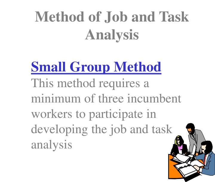 Method of Job and Task Analysis