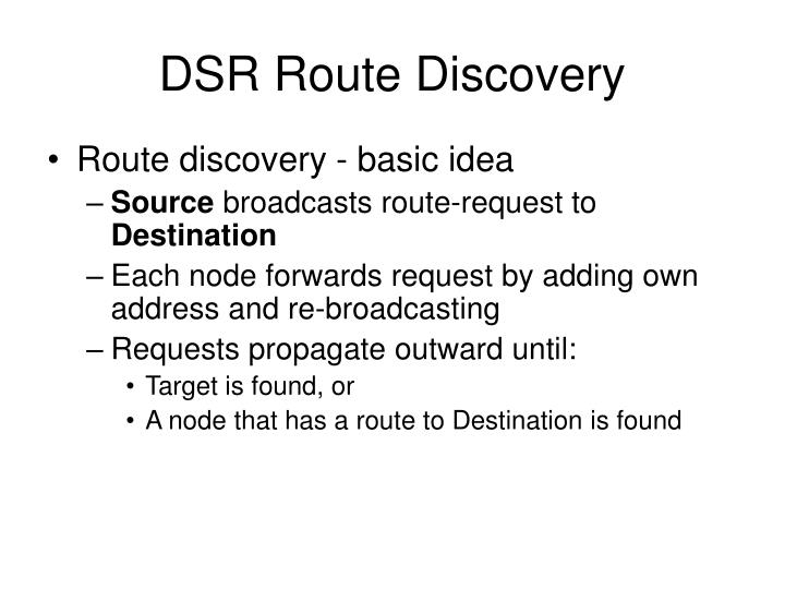 DSR Route Discovery