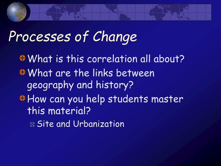Processes of change1