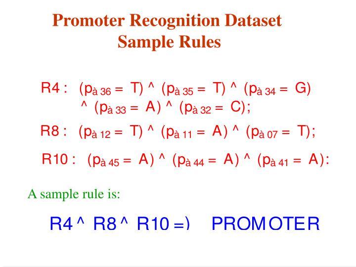 A sample rule is: