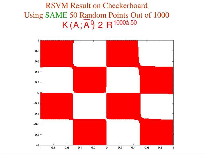 RSVM Result on Checkerboard