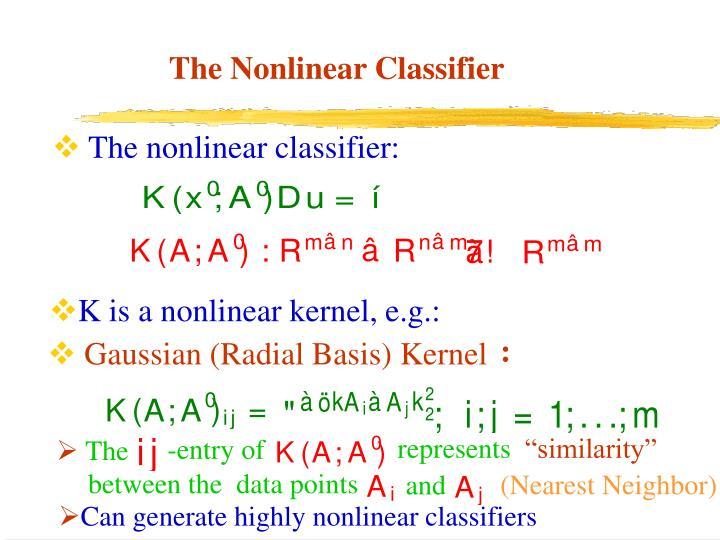The nonlinear classifier: