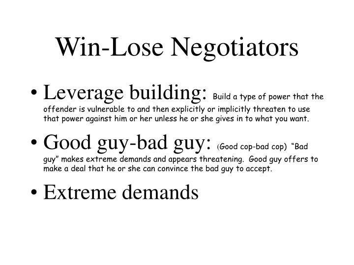 Win-Lose Negotiators