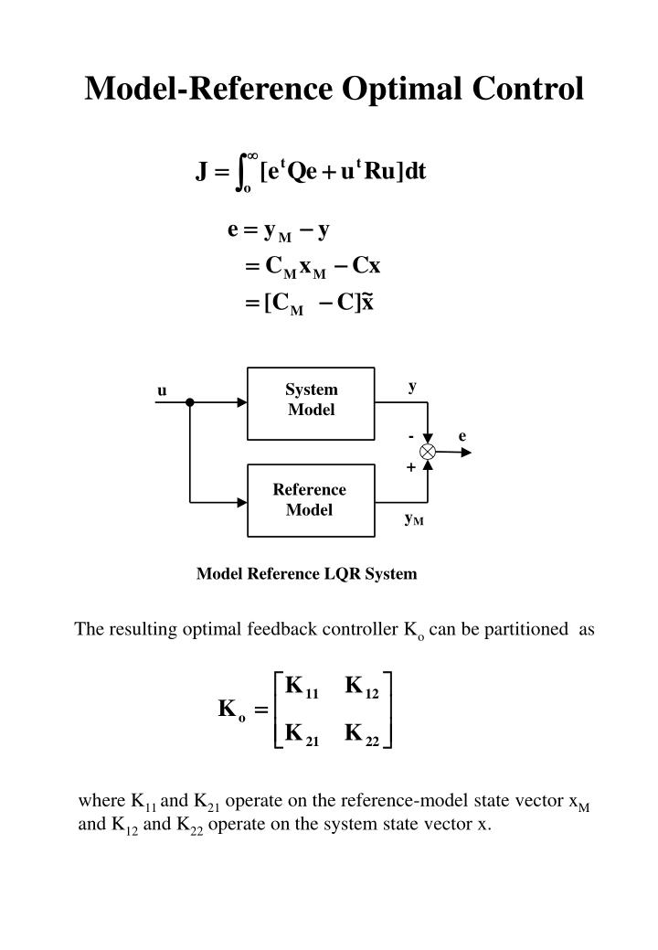 Model-Reference Optimal Control