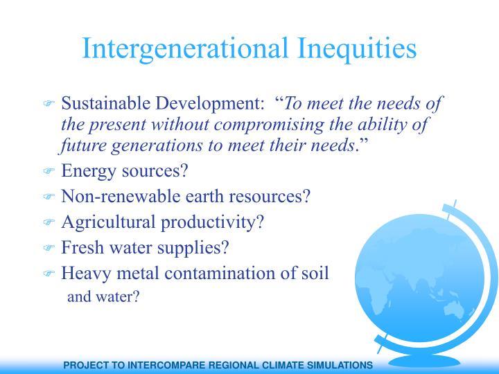 Intergenerational Inequities
