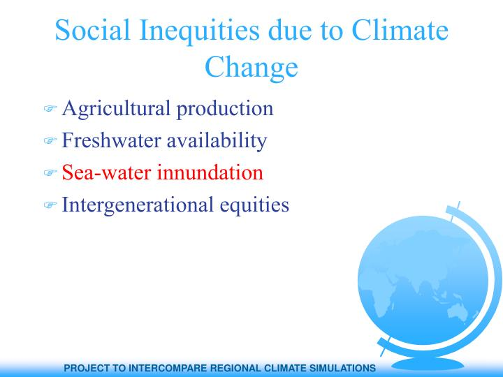 Social Inequities due to Climate Change
