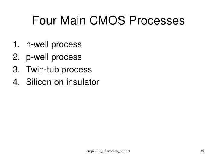 Four Main CMOS Processes