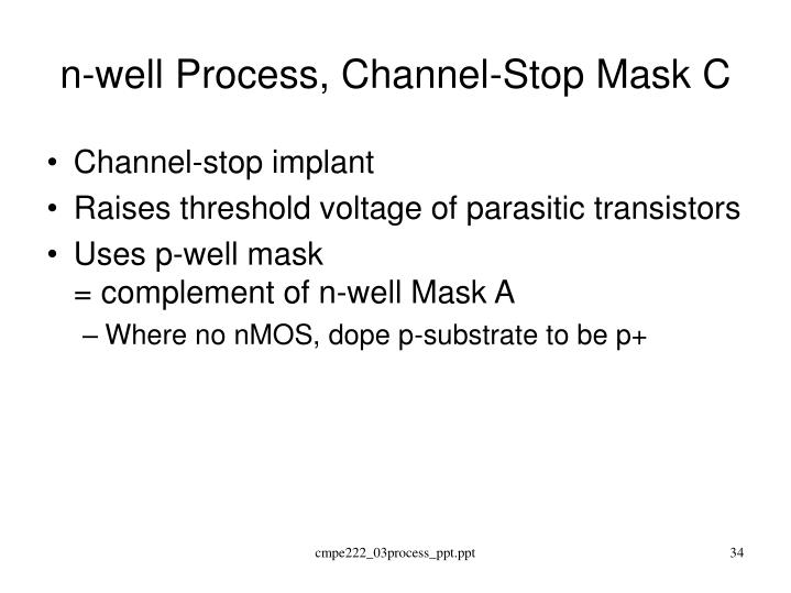n-well Process, Channel-Stop Mask C