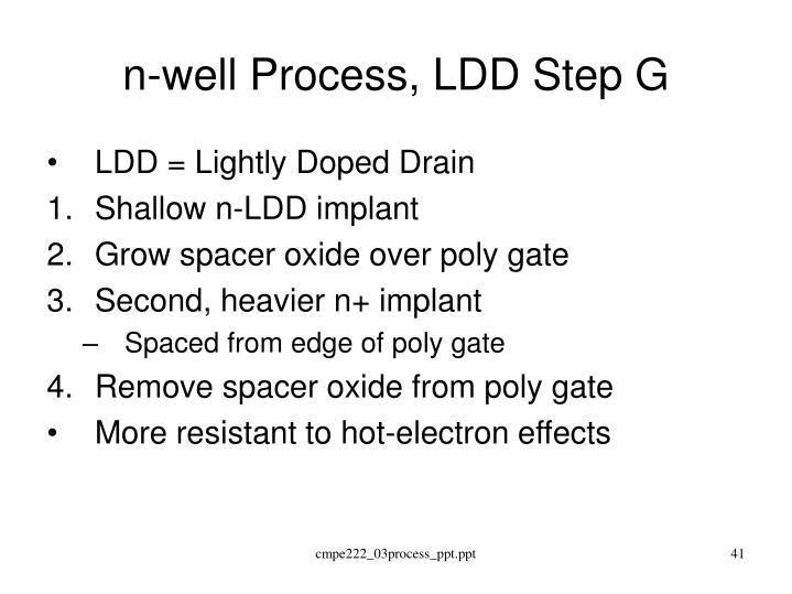 n-well Process, LDD Step G