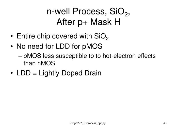 n-well Process, SiO